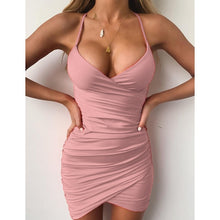 Load image into Gallery viewer, 2019 Summer New Women's Fashion Spaghetti Strap Slim Fit Sleeveless Vest Dress Casual Solid Color Low Cut Evening Dress Plus Size S-5XL