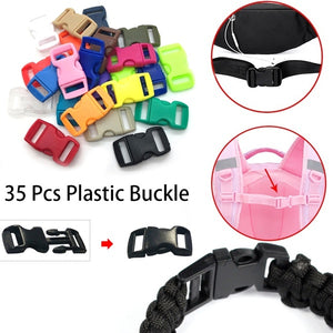 35 Pcs Colorful Plastic Stopper Lock for Bag/Pet/Umbrella Rope Buckle Apparel Shoelace Sports Wear Accessory Button
