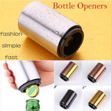 5-colour fashionable compact bottle opener creative stainless steel stamping multi-functional bottle opener cap