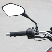 Load image into Gallery viewer, 2pcs Universal Black Motorcycle Motorbike Rearview Rear View Side Mirror 10mm
