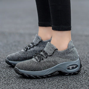 Women's Fashion Casual Shoes Breathable Mesh Sneakers Lightweight Flying Weaving Sport Dance Tennis Fitness Shoes