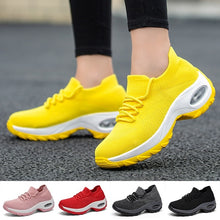 Load image into Gallery viewer, Women's Fashion Casual Shoes Breathable Mesh Sneakers Lightweight Flying Weaving Sport Dance Tennis Fitness Shoes