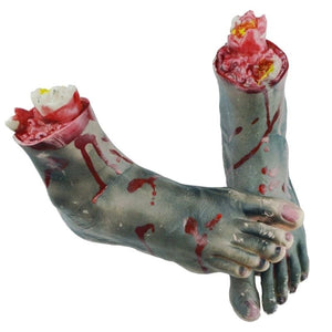 1 Set Halloween Bloody Hand Legs Haunted House Horror Props Party Club Scary Decoration Supplies BUR