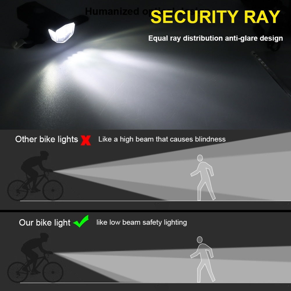 Super Bright Rechargeable Waterproof Bike Light 3 Modes Bicycle Headlight Cycling Front Light for Riding Hiking Camping Headlamp Flashlight