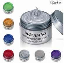 Load image into Gallery viewer, Fashion Men Women Hairstyling Japanese Colorful Hair Dye Wax One-time Molding Hair Dye Paste,1pc