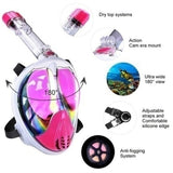 Diving Mask with Waterproof Sport Camera Set Water Sports Equipment Mask with 1080P Waterproof Camera