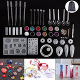 98PCS Resin Casting Molds Silicone DIY Mold Jewelry Pendant Mould Making Craft Kit