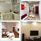 PE Foam 3D Wallpaper DIY Wall Stickers Wall Decor Embossed Brick Stone Living Room Bedroom TV Background Wall Home Decoration