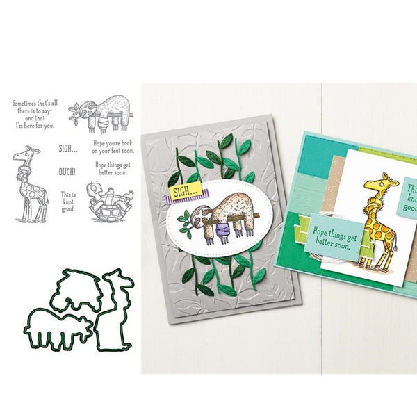 BACK animal Metal Cutting Dies And Stamps Die Cuts Embossing Stencil Craft Paper Album Template