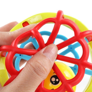 Baby Hand Rattle Hand Catch Ball Rattle Puzzle Soft Glue Bell Car Kids Toys