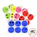 120pcs Natural Mosquito Repellent Patches Smiley Face Anti-pest Stickers