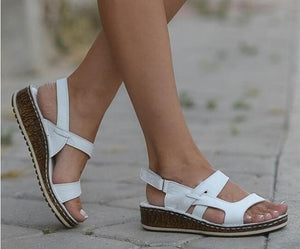 Women Wedge Sandals Open Toe Shoes Ankle Strap Summer Shoes Bandage