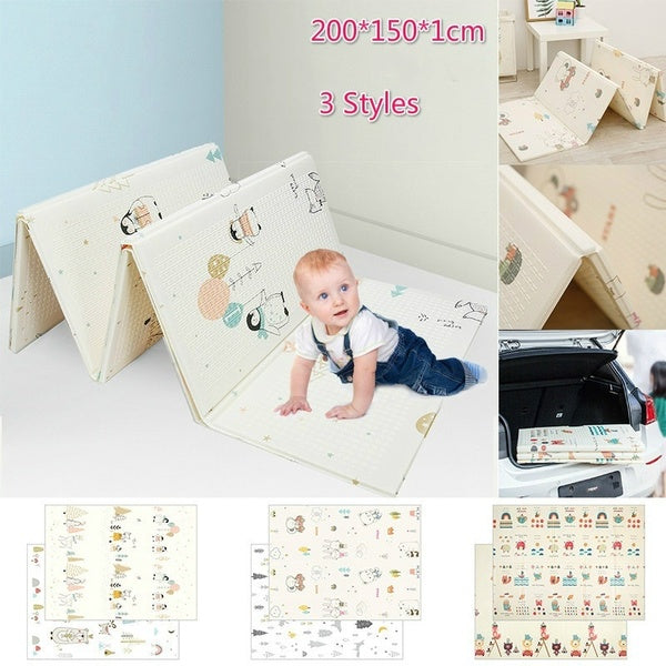 Cartoon Baby Play Mat Foldable Xpe Children's Mat Baby Climbing Pad Kids Rug Baby Games Mats Play Mat