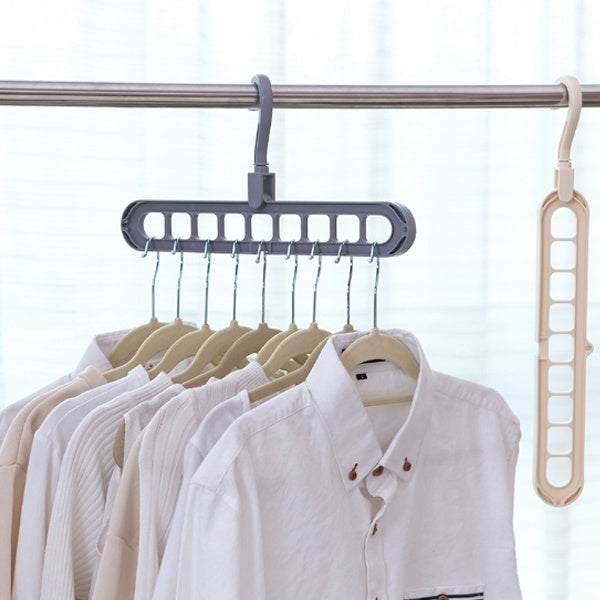 1/2pcs Multi-port Support Circle Clothes Hanger Clothes Drying Rack Multifunction Plastic Scarf Clothes Hangers Folding Hangers Storage Racks