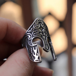 316L Stainless Steel Ring Warrior Ring Scandinavian Ring Viking Totem Mask Amulet Ring Men's Fashion Jewelry Jewelry