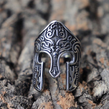 Load image into Gallery viewer, 316L Stainless Steel Ring Warrior Ring Scandinavian Ring Viking Totem Mask Amulet Ring Men's Fashion Jewelry Jewelry