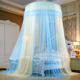 Ceiling-Mounted Mosquito Net Free Installation Home Dome Foldable Bed Canopy Princess Tent Bed Curtain Twin Full Queen