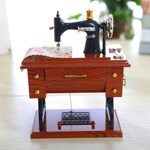 Load image into Gallery viewer, Music Box Mini Sewing Machine Style Mechanical Birthday Gift Table Decor