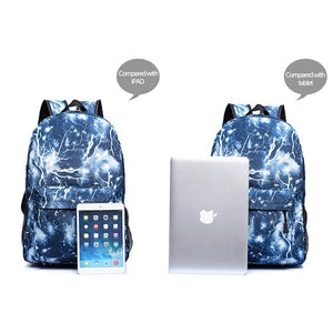Marshmello backpack mochila  Backpack Galaxy Space School Bags for Teenage Girls Boys Laptop Backpack Casual Travel Bags