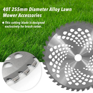 40T 255mm Diameter Alloy Lawn Mower Brush Cutter Blade Mower Accessories Tool