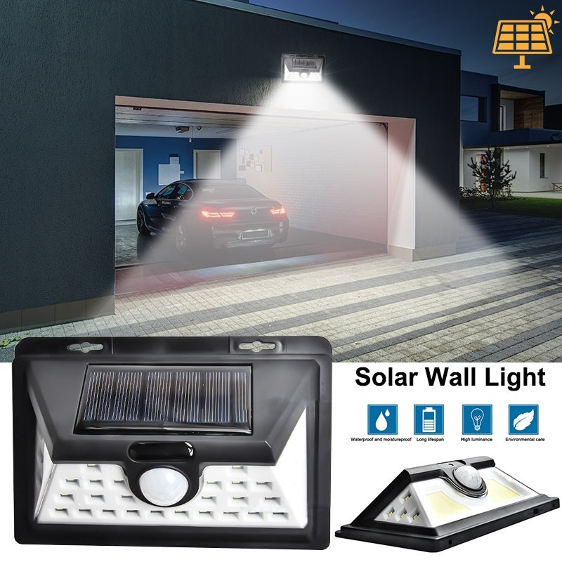 32/76/118/180LED Solar Lamp Outdoor Garden Yard Waterproof PIR Motion Sensor Night Light