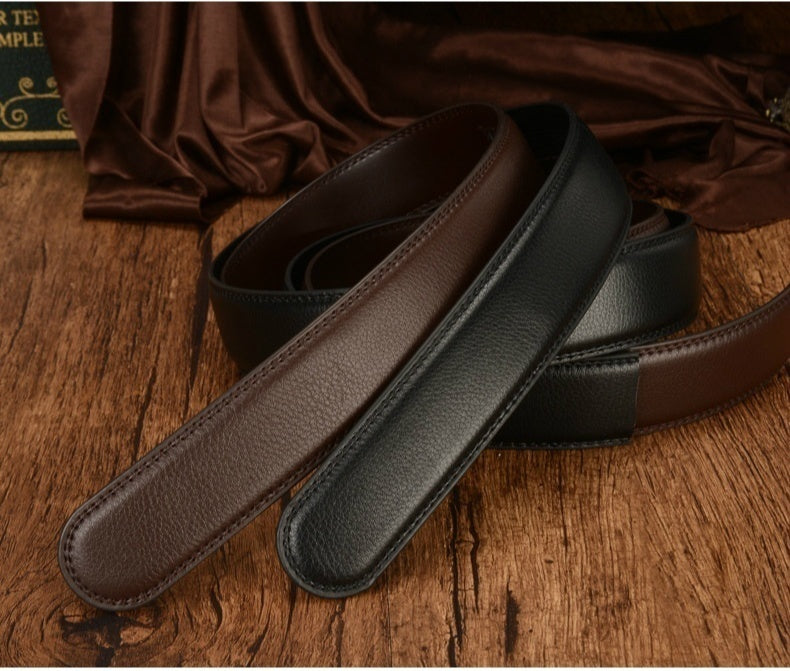 High Quality New Men's Leather Alloy Buckle Belt Men's Casual Leather Belt (length 110cm-135cm)