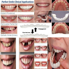 Load image into Gallery viewer, 2 Pcs (Upper and Lower) Denture Instant Smile Comfort Fit Flex Cosmetic Teeth Denture Teeth Top Cosmetic Veneer