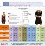 Summer New Printed Women Dress Casual Short Sleeved Loose Dress Round Neck Pullover Dress