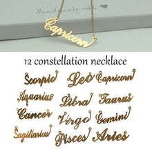 Load image into Gallery viewer, Constellation Jewelry Pendant Scorpio Leo Capricorn Aquarius Libra Taurus Cancer Virgo Gemini Sagittarius Pisces Aries Necklace 12 Zodiac Necklace