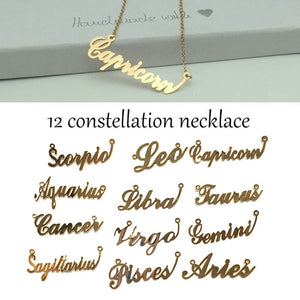 Constellation Jewelry Pendant Scorpio Leo Capricorn Aquarius Libra Taurus Cancer Virgo Gemini Sagittarius Pisces Aries Necklace 12 Zodiac Necklace