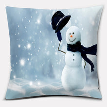 Load image into Gallery viewer, Christmas Snowman Merry Christmas Double-sided Print Pillow Case Home Living Decoration Car Sofa Cushion (45cm * 45cm)
