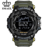 SMAEL Mens Watches New Fashion Casual LED Digital Outdoor Sports Watch Men Multifunction Student Wrist watches Light Men's Military Clock