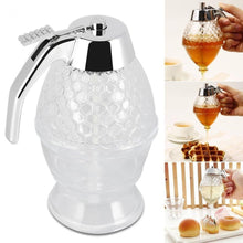 Load image into Gallery viewer, Squeeze Bottle Honey Jar Container Bee Drip Dispenser Kettle Storage Pot Stand