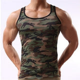 Fashion Military Style Men Vest Camouflage Tank Top Tight Sport Skinny  BB