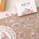 40Pcs/Pack Kawaii Stationery Stickers Planner Scrapbooking Retro Time Series Flower Cute Drawer Boxed Japanese Diary Sticker Kit School Supplies