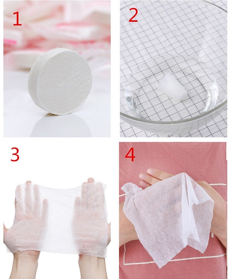 10PC compressed towel disposable cotton cleansing towel Portable travel compressed face towel
