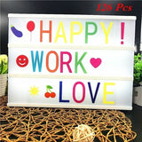 Hot Selling 84/126pcs Cinematic Led Lightbox Replacement Letters With Numbers Signs Black For A4 MagiGlow Light Up Letter Box Sign Message Board