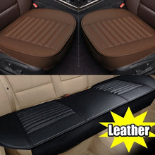 Load image into Gallery viewer, Fashion Universal 5D Car PU Leather Front Seat Rear Seat Seat Cover Pad Breathable Seat Pad Cushion(Beige/Black/Grey) Car Accessories