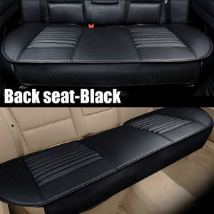 Fashion Universal 5D Car PU Leather Front Seat Rear Seat Seat Cover Pad Breathable Seat Pad Cushion(Beige/Black/Grey) Car Accessories