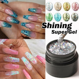 1 Pcs Hybrid Varnish Gel Nail Polish Fashion Glitter Super Platinum Nail Gel Painting Nail Art UV Gel Lacquer 8 Colors