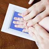 Newborn Baby Handprint or Footprint  Clean-Touch  Ink Pad 2 White Cards , 100% Non-Toxic & Mess Free 6 Colors
