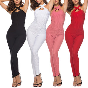 NEW Anti-Cellulite Compression Leggings Yoga Rompers Pants Jumpsuit Gym Clothes for Women