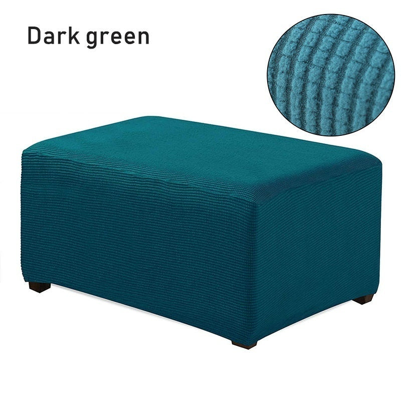 9 Colors High Elastic Couch Seat Ottoman Cover Plaid Non-slip Anti Dust Sofa Bench Protector Rectangle Furniture Waterproof Cover for Living Room Bedroom Home Decoration