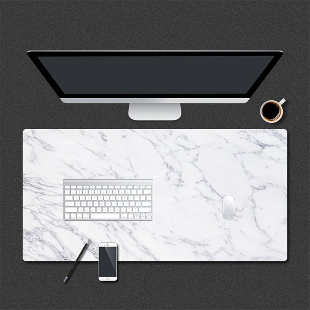 Home Office Large Marble Grain Table Mat Computer Desk Mat Laptop Cushion Game Mouse Pad