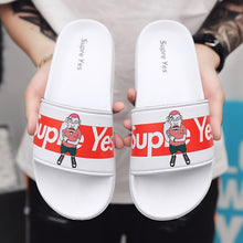 Load image into Gallery viewer, Summer Fashion Men and Women Unisex Slide Sandals 'Supre Yes' Indoor & Outdoor Slippers Beach Wear