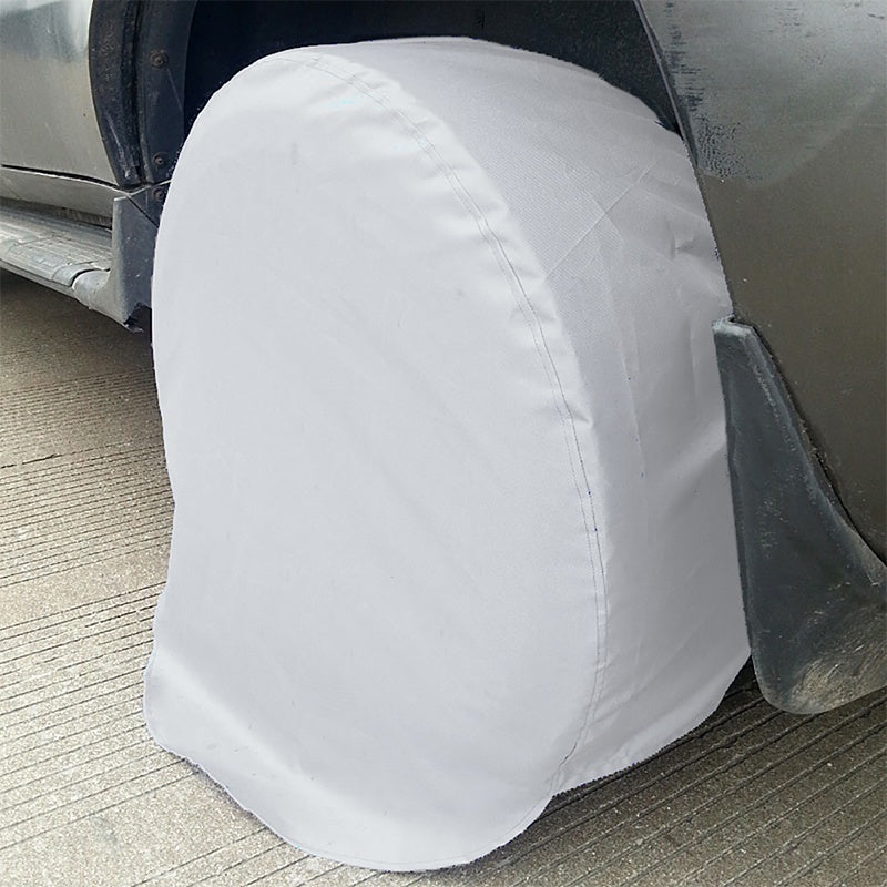 4PCS Useful Wheel Tire Covers Waterproof Dustproof Sun Rain Snow Protector Truck Trailer RV Camper Motorhome Tire Covers