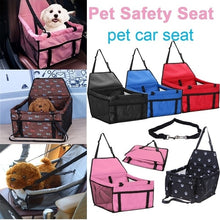 Load image into Gallery viewer, Pets Car Safety Seat Breathable Waterproof Puppy Cat Dog Travel Safe Carrier Pad Bag Basket