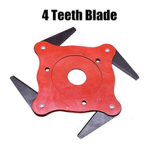 Load image into Gallery viewer, 3/4/5/6 Lawn Mower Teeth Brush Cutter Blade Metal Blades Trimmer Head Home Garden Grass Trimmer Head Mower Blade Razor for Garden Lawn Yard Mower