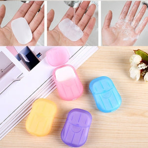 3 Boxes/60 pieces Convenient Washing Hand Bath Soap flakes Travel portable Scented Slice Sheets Foaming Box Paper
