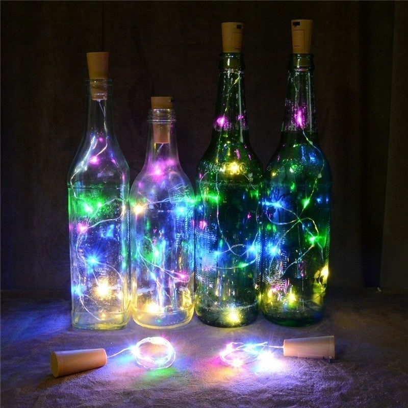 15 LED / 20 LED Bottle Stopper Wire String Lights Fairy Lights for Holiday Wedding Party Decor